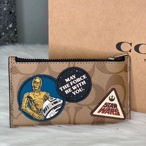 Coach x Star Wars Signature Zip Card Case